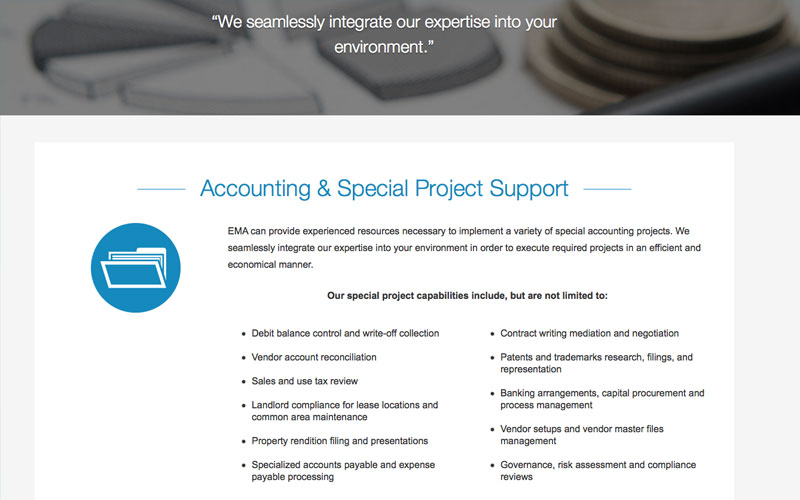 EMA Accounting and Special Project Support