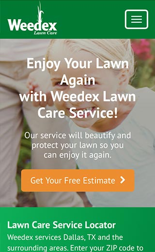 Weedex Lawn Care Mobile Experience